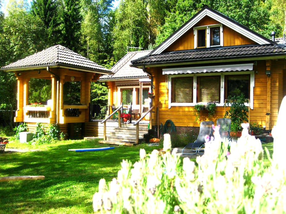 Villa Kanttarelli is a lovely log house in Nuuksio National Park, which is famous of its many clear lakes and marked hiking routes that makes it safe and easy to enjoy pure nature.