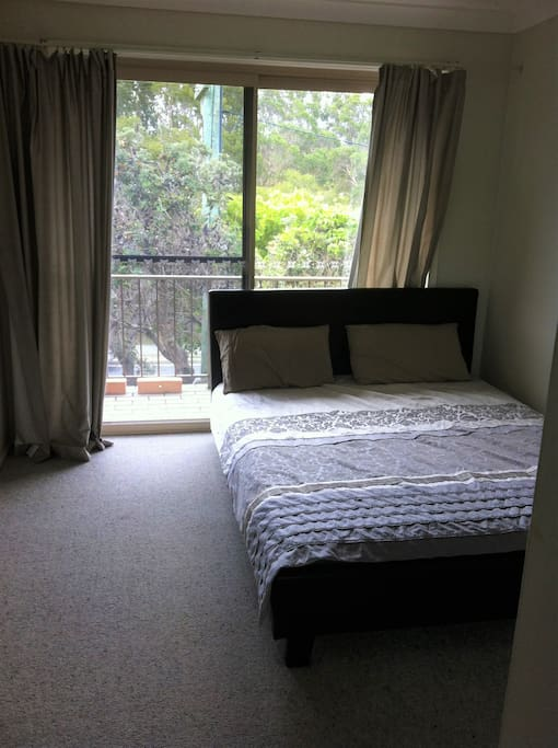 second bedroom, sharing balcony with the living room