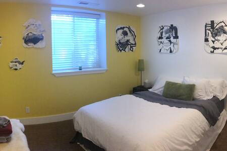 Bannock Hideaway: 2BR basement suite +private bath