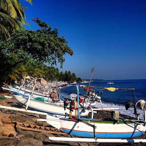Enjoy the experience of living in a Balinese fishing village of Les