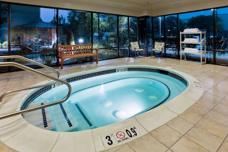 Equipped Suite Near ABE with FREE 24h Airport Shuttle   Shared Hot Tub Access