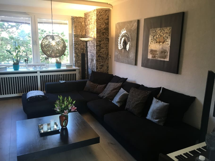 Living room with big sofa