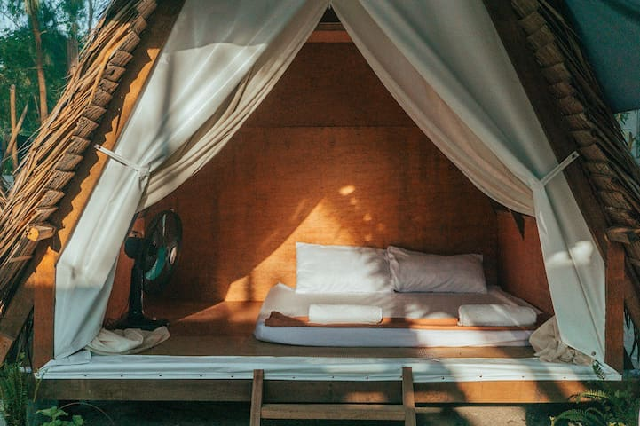 Feel free to relax in our eco huts