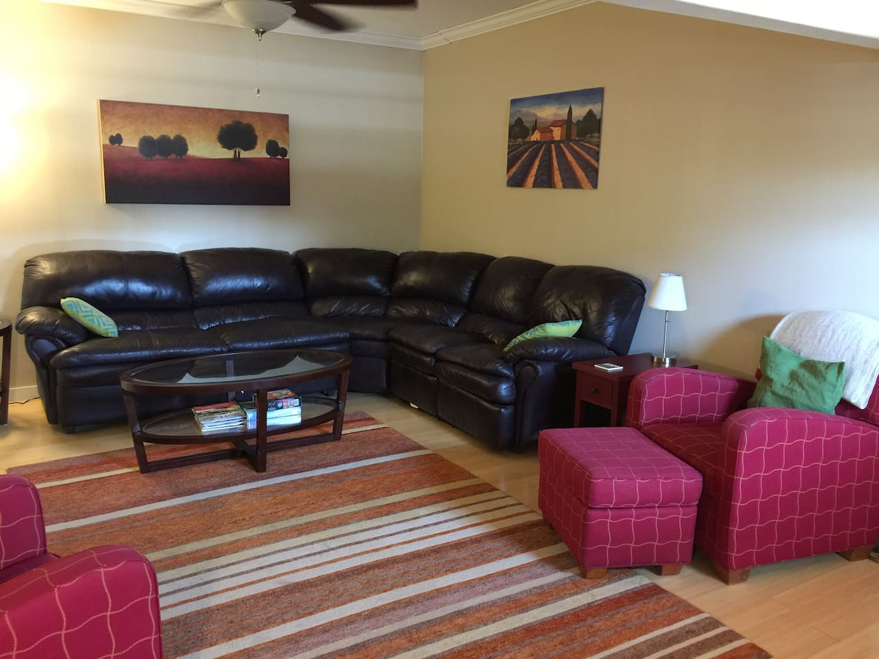 Living room with pull-out couch