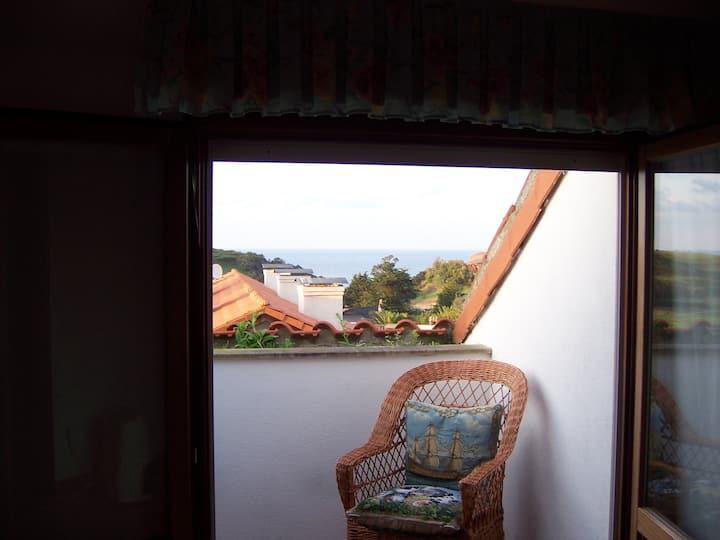 Duplex acogedor con vistas al Mar Cantábrico