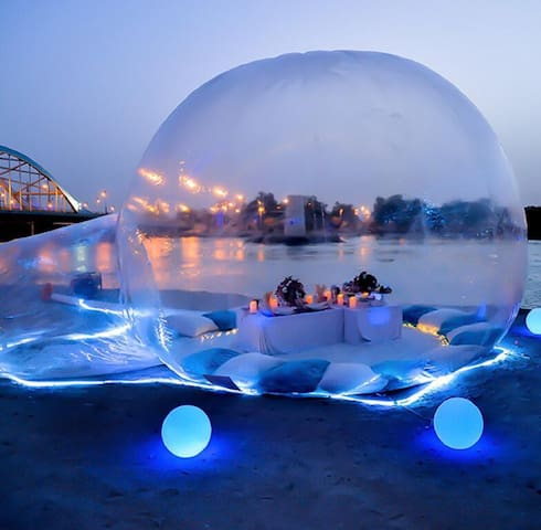 Bubble tent romantic to spend night for couple!!!