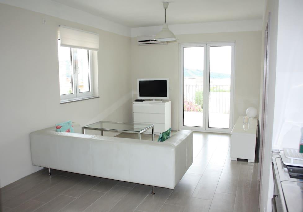 Livingroom with big balcony