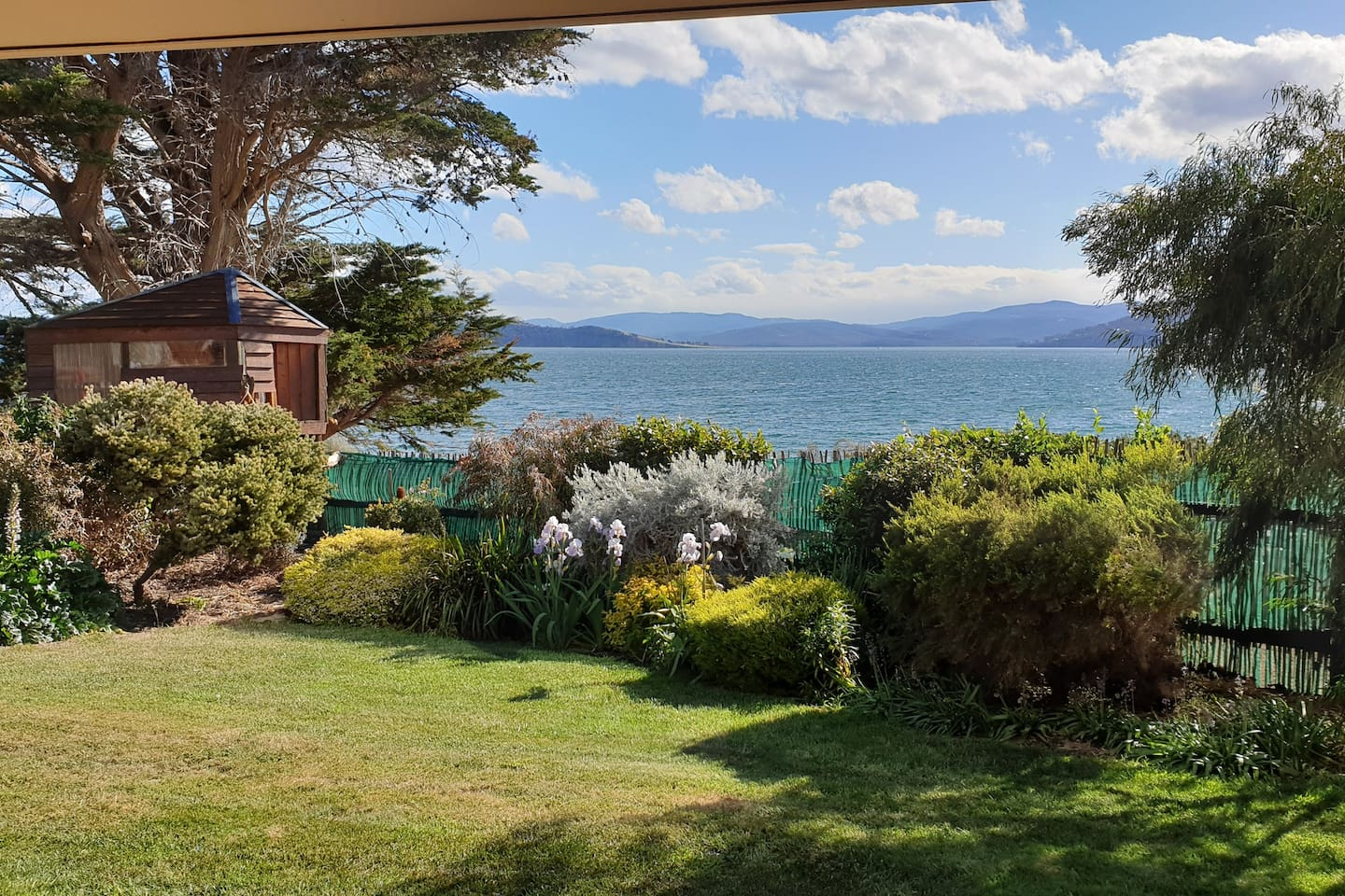 View from your deck across to Bruny Island