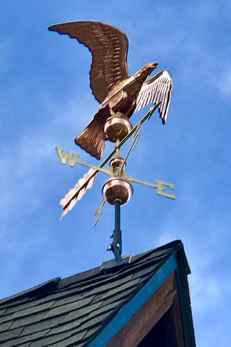 Eagle weather vane at Star by Bear