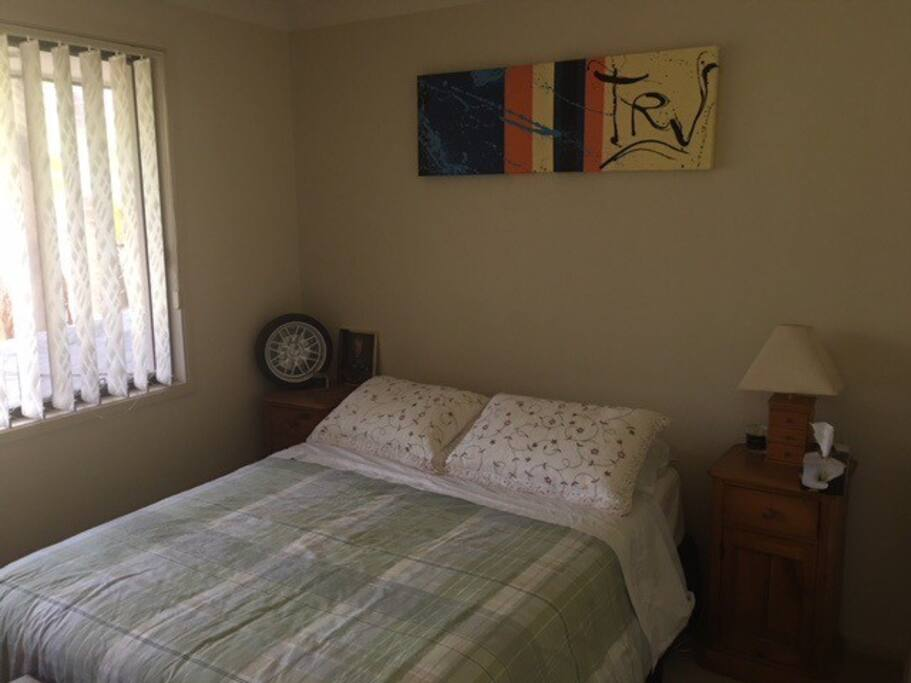Lovely bedroom over looking the garden