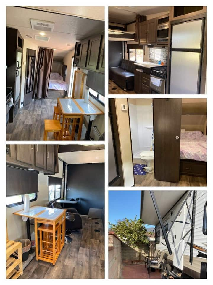 Tall, new and comfortable RV