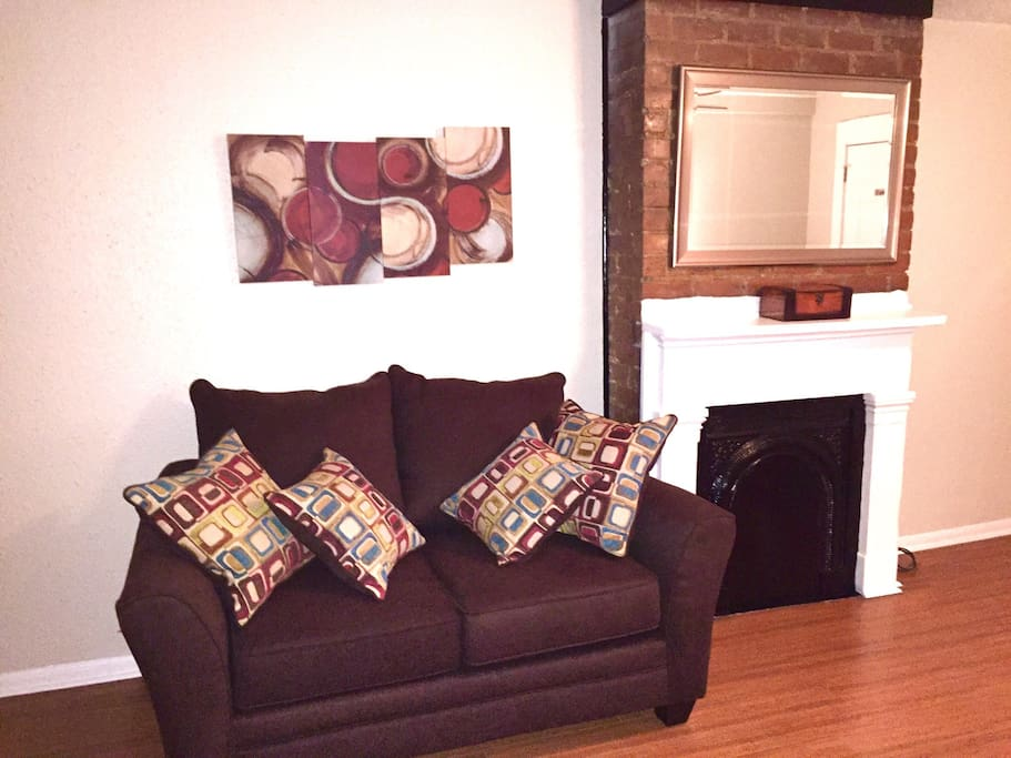 Love seat in the living room.