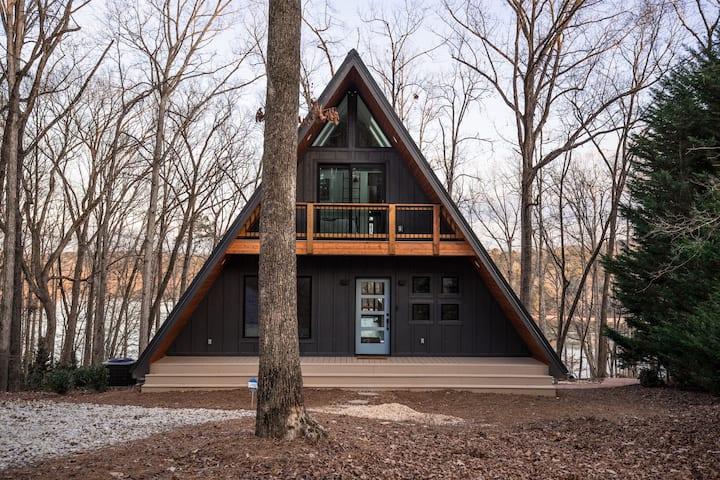 NEW! HeyFrameHouse Modern A-frame on Lake Hartwell