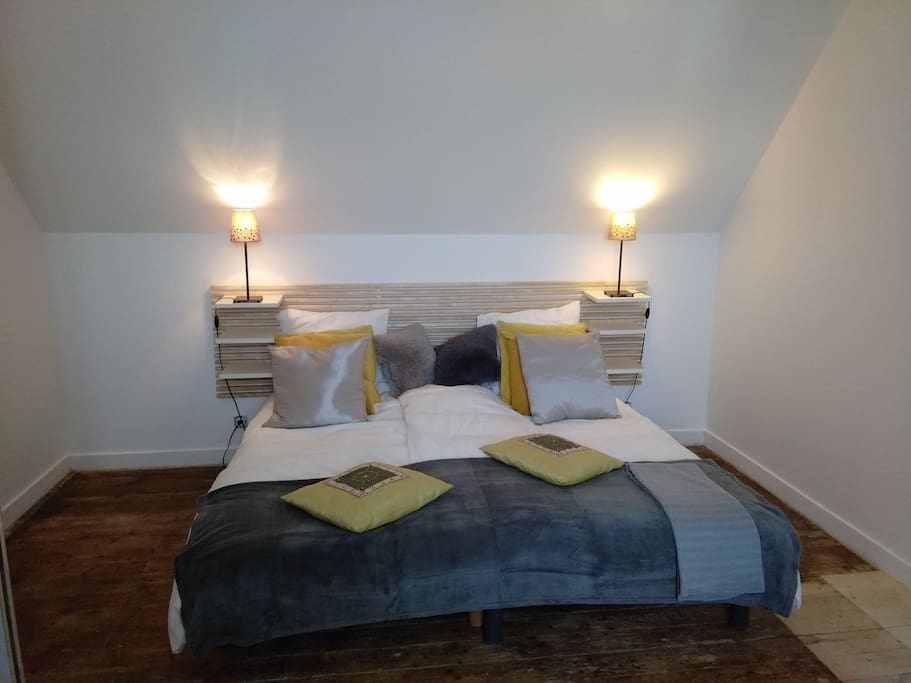 Chambre avec lits jumeaux - décomposés en 2 lits 1 pers ou 1 lit