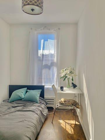 Sunny room with a balcony