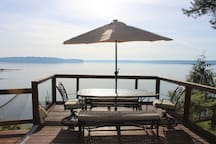 Great Seating overlooking the sound