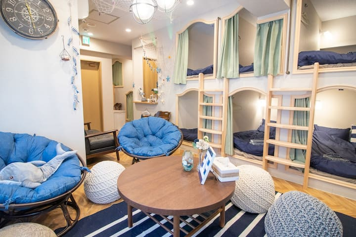 Up to 14 beds!!! In the middle of Ueno downtown !!