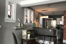 Open concept dining area