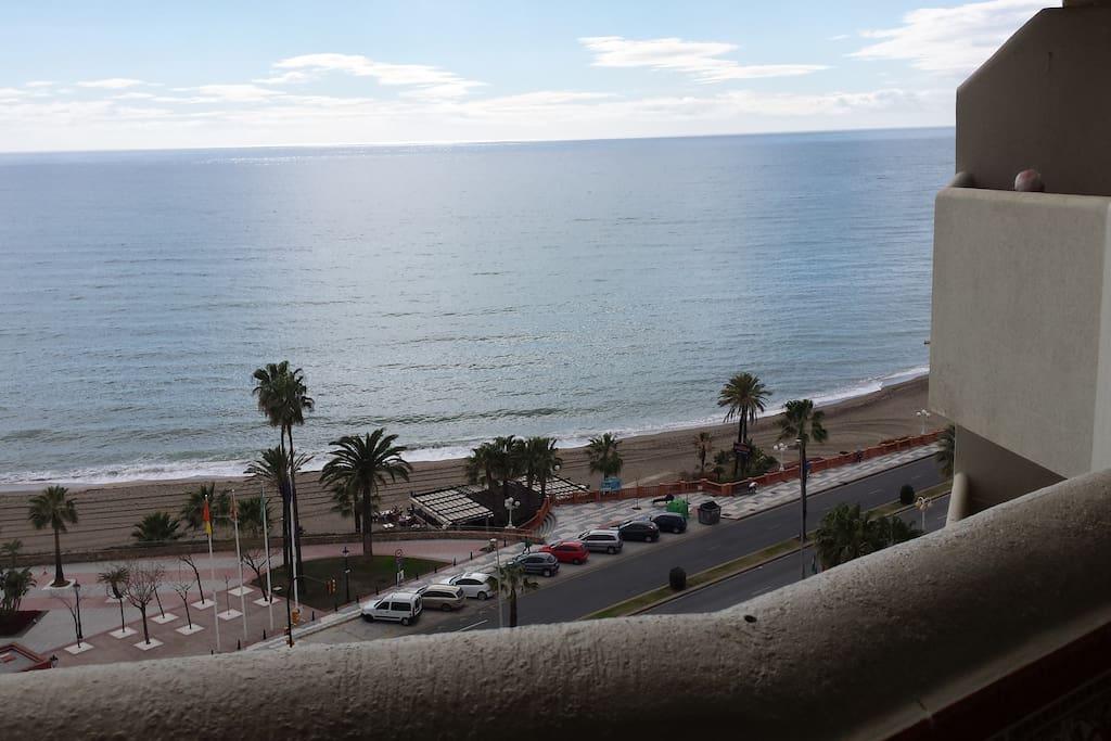 vistas desde la terraza, playa