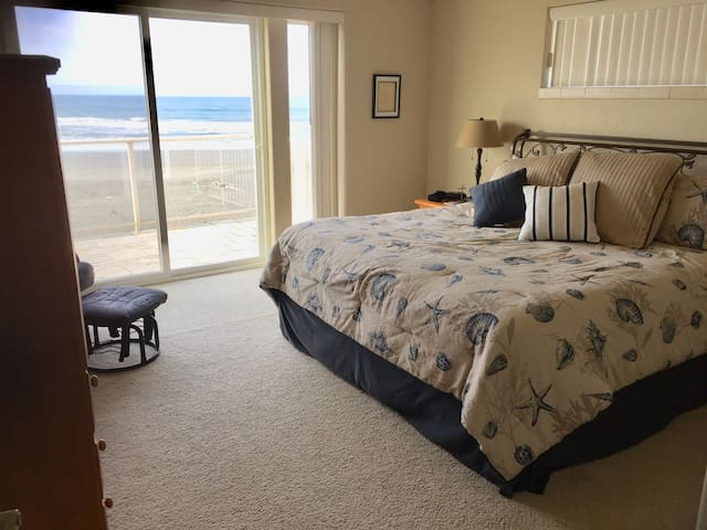 Beach view from Master bed and master deck