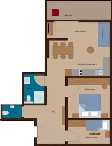 Rössle Appartement Top 4 oder 8 ( 65 m2 )