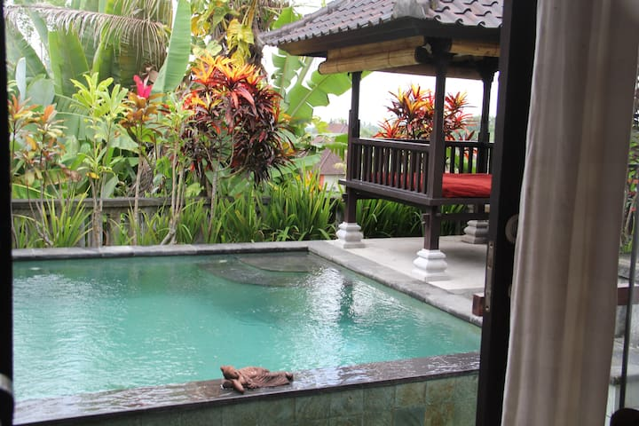 private villa with private pool in ubud