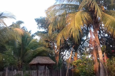 Cabañas en jardín paradisíaco