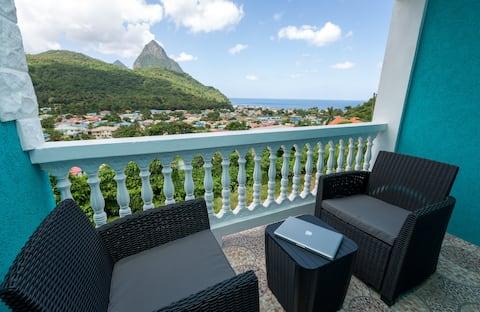 Zafír 4 - 1 millió amerikai dollár Pitons & Ocean Views +Beach 7 perc
