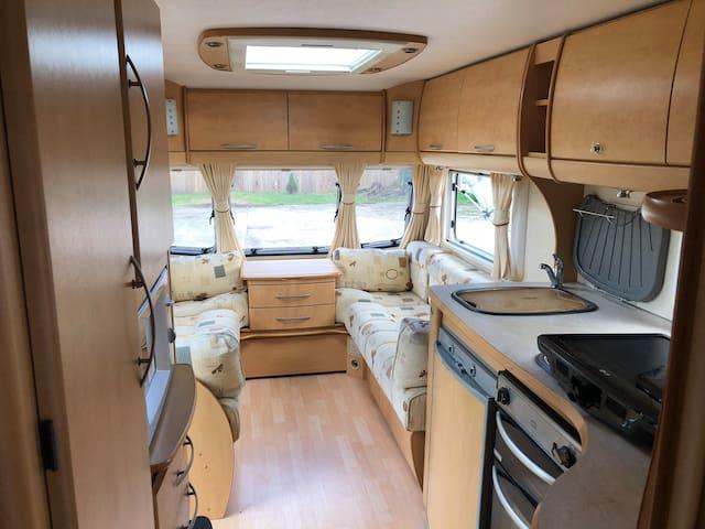 On Site caravan in quiet location.
