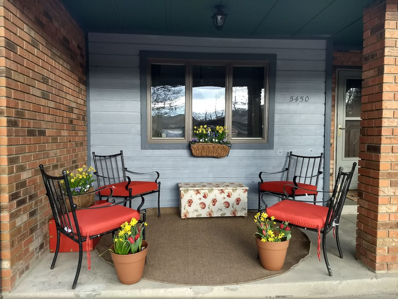 Cozy Inviting right side of  Front Porch