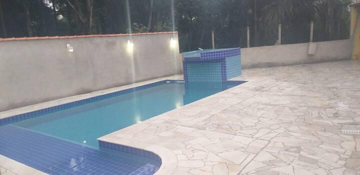 Casa de Campo - piscina mesa sinuca churrasqueira