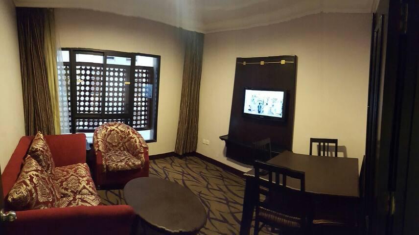 Luxury hotel suite overlooking the Haram al-Sharif