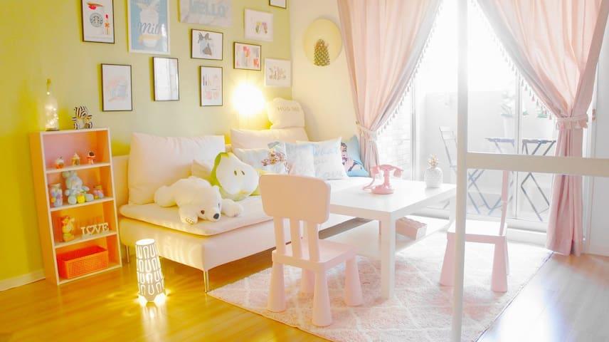 『Pink』cute room/Nankai Namba/Daikoku station~2min