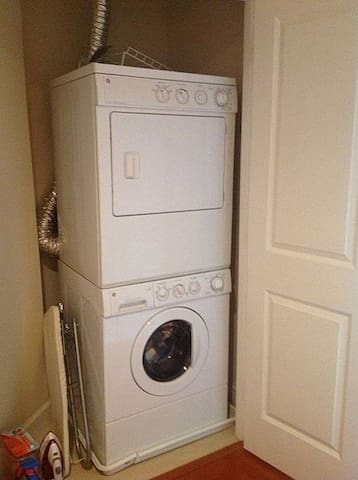 Washer and dryer inside our listing