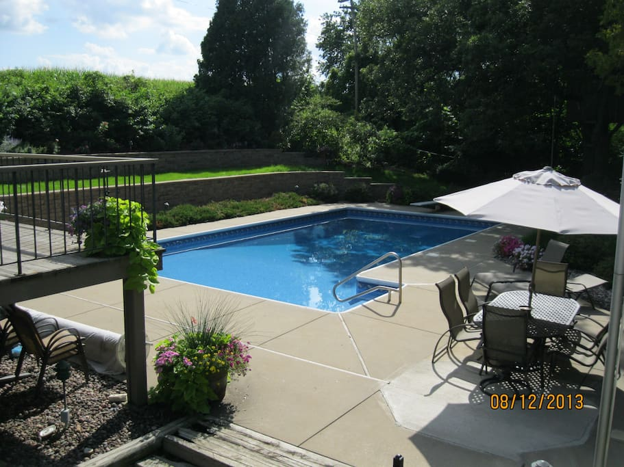 Pool open to airbnb guests in the summer.