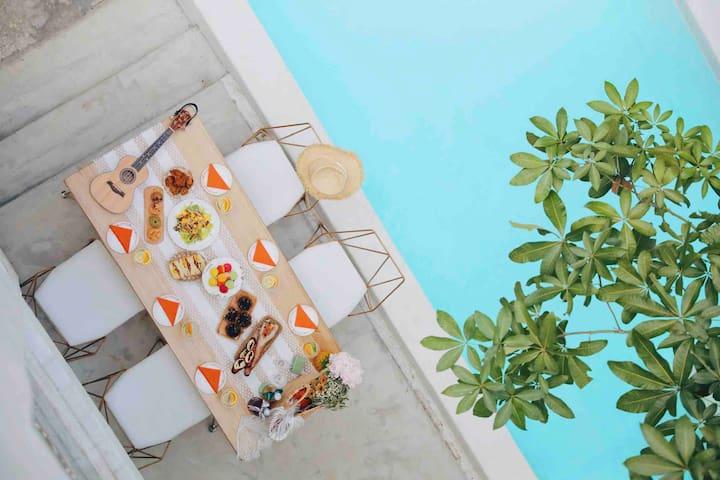 【不知处·整栋】请咨询有房后再下单!深圳北直达香港私人泳池别墅·浴缸·投影仪·西厨·聚会拍照