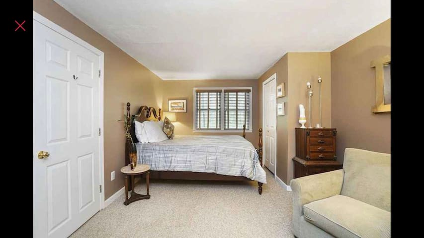 A large, quiet room, in a clean comfortable home.