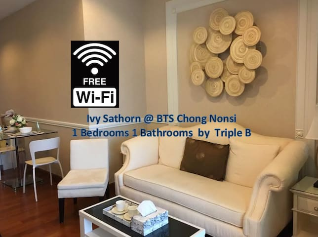 1BR Silom-Sathorn BKK@BTS Chong Nonsi by Triple B