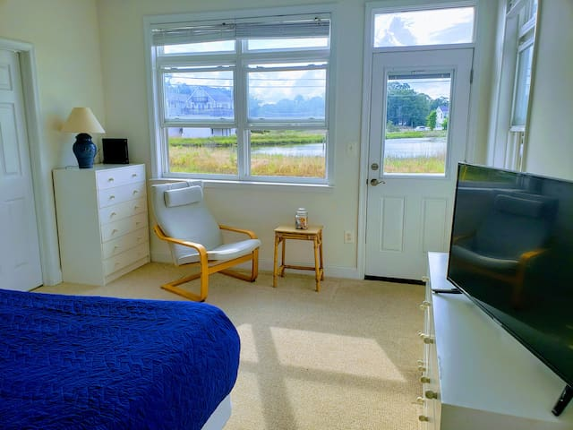 Second Bedroom with view of inlet and wetlands