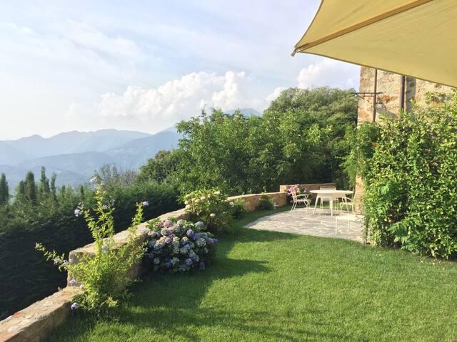 Private Luxury Tuscan Apartment with Pool+Sea View - Pedona - Leilighet