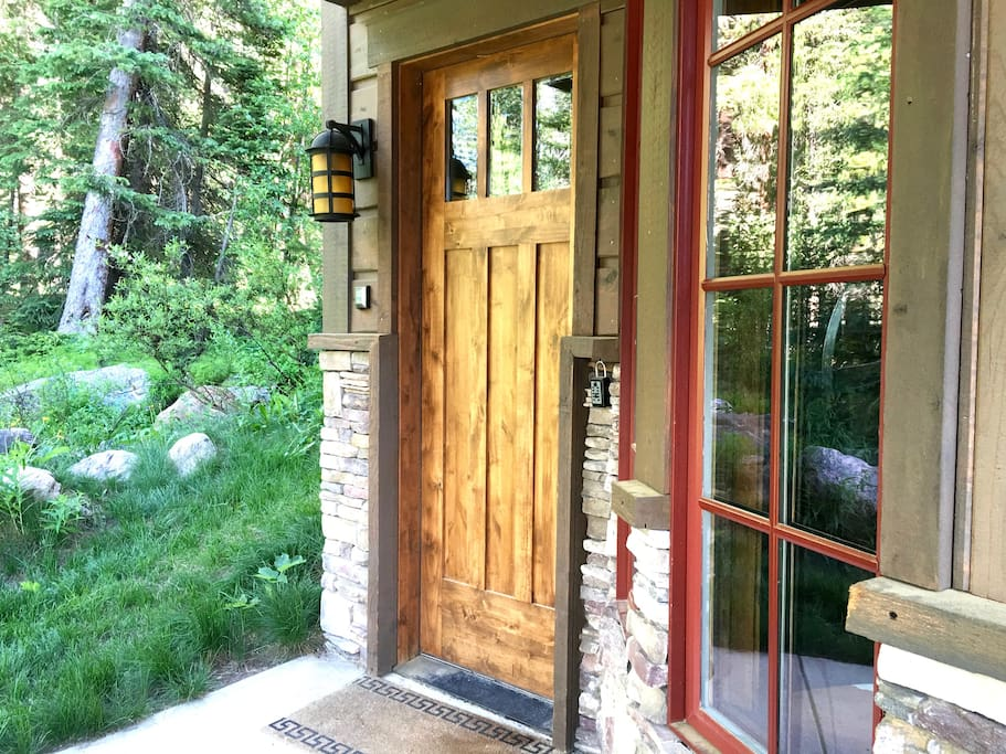 Private Front Door Entry (summertime)