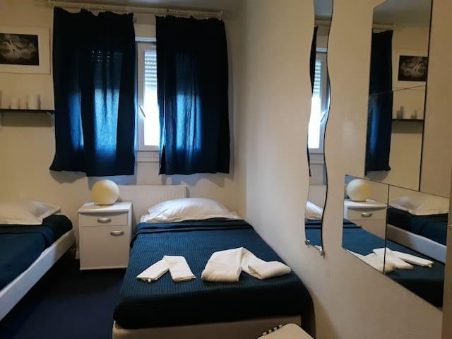1 Chambre, 2 lits 190x90, tout confort, dans un F3