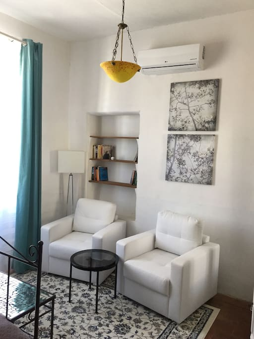 Seating in the white bedroom