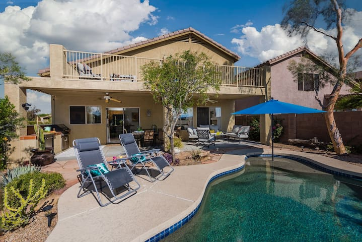Cave Creek 4BD/3BTH PoolTable, BBQ, Htd Pool ST360