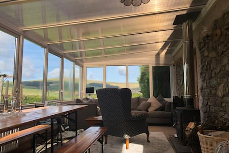 National park retreat in Wales with stunning views