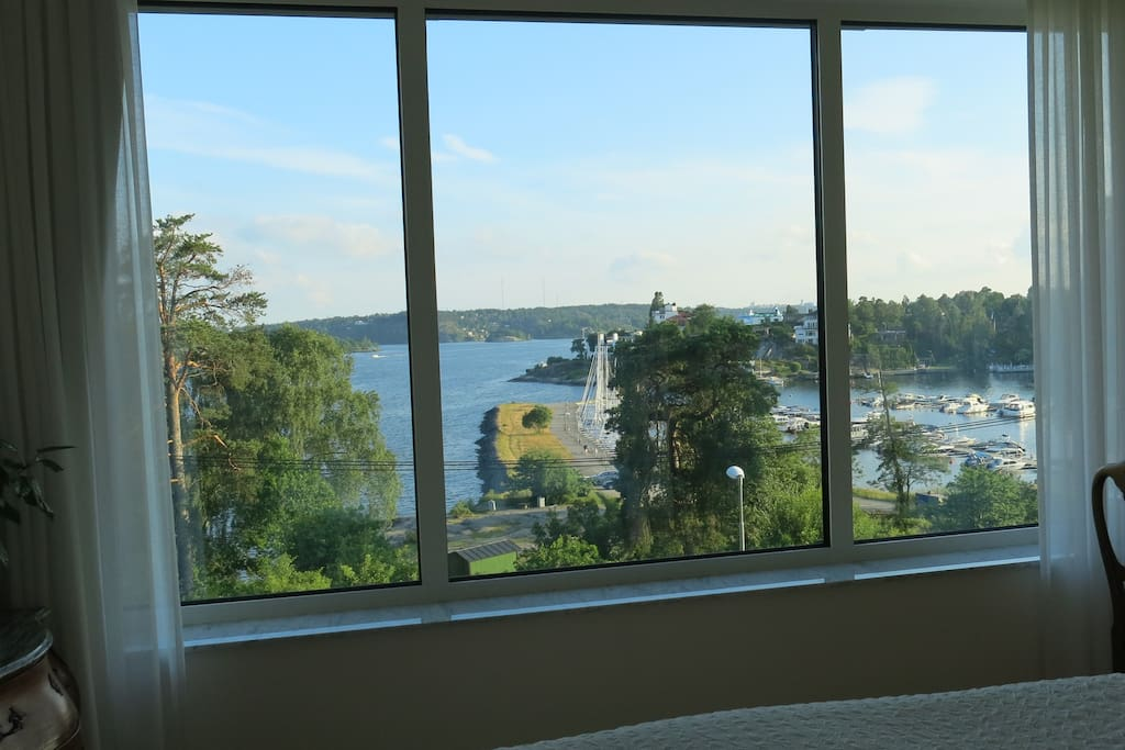 Fantastic view from the master bedroom