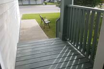 View of patio from the entrance door.