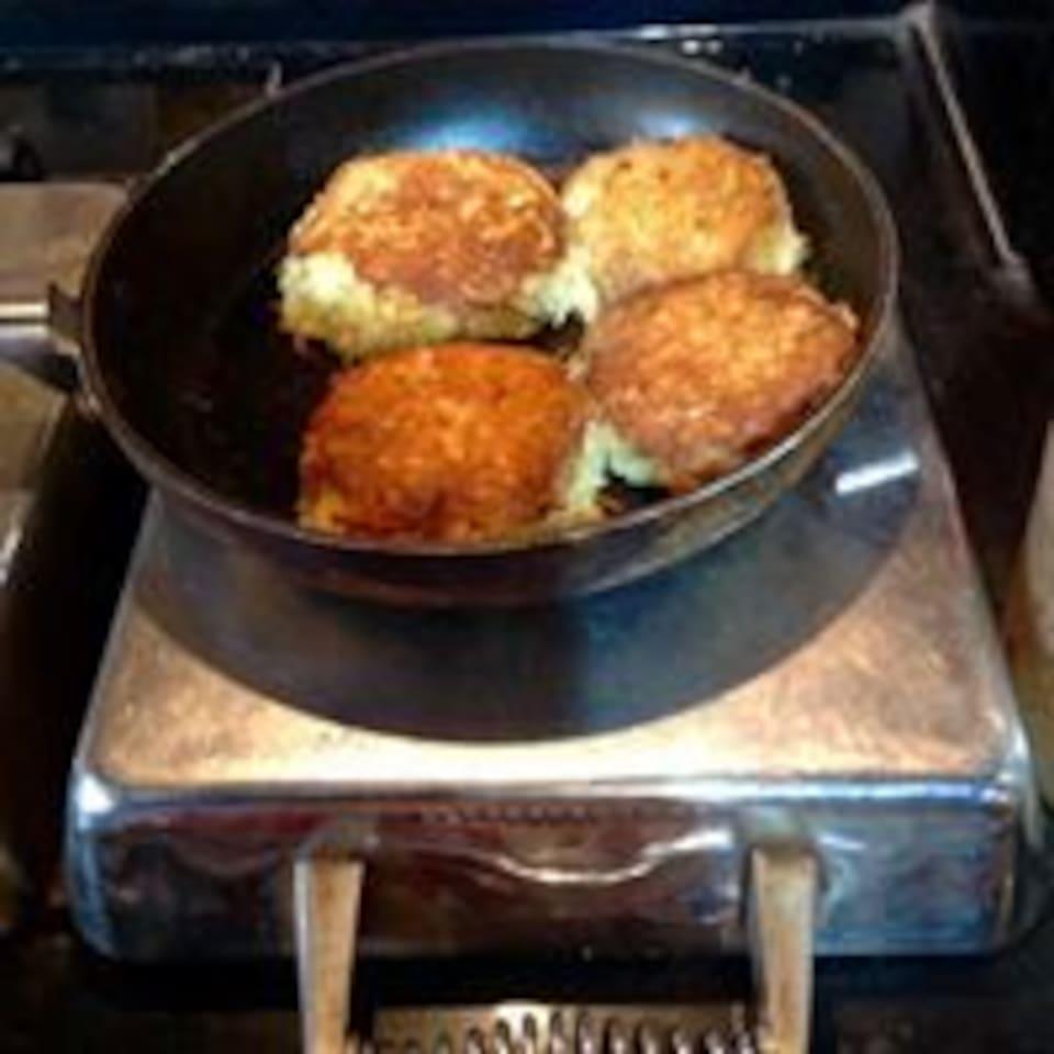 Homemade potato cakes