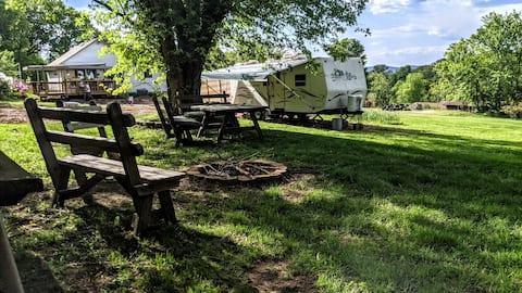 Camper near French Creek