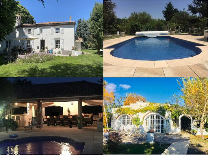 Ariège - Maison de charme + villa, Pool-House ZEN